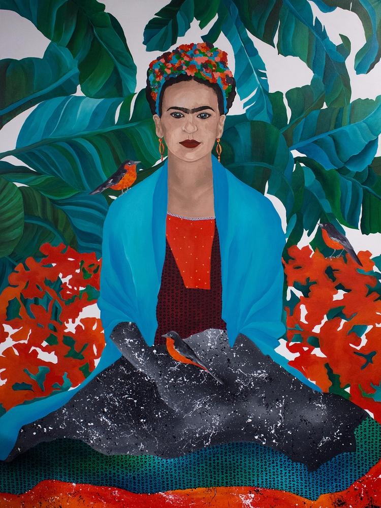 'Frida Nightingales' 160 120 cm - cakeqme | ello