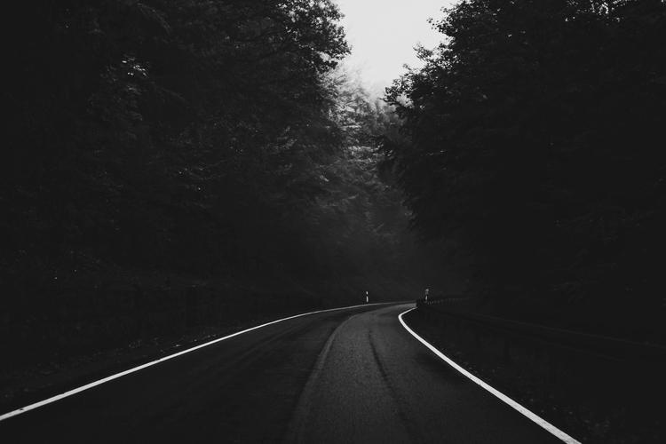 blackandwhite, landscape, road - thanospal | ello