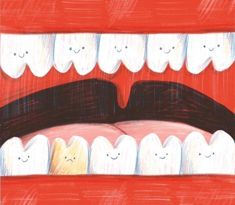 teeth - illustration, digitalillustration - tesslucia | ello