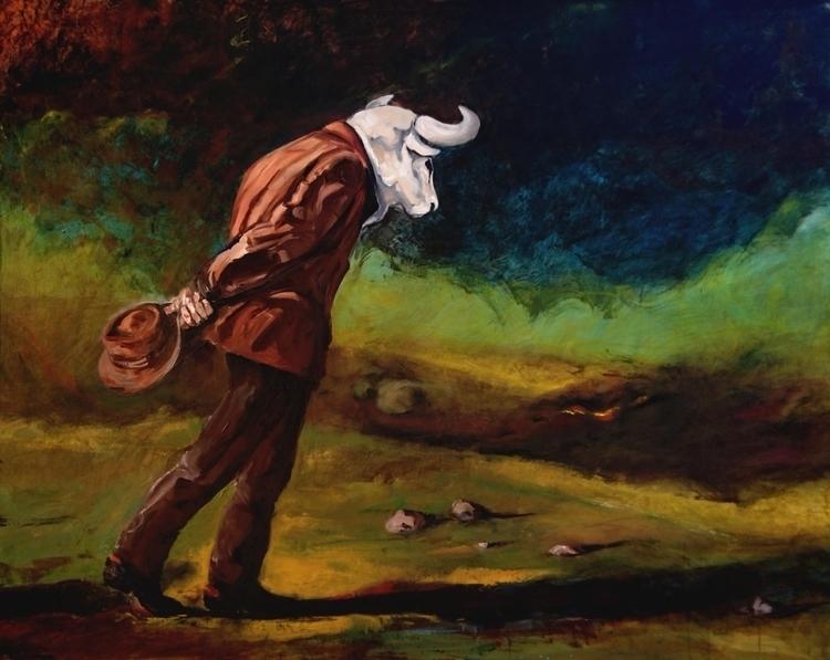 Time Contemplation Oil Canvas - michaelchomse   ello