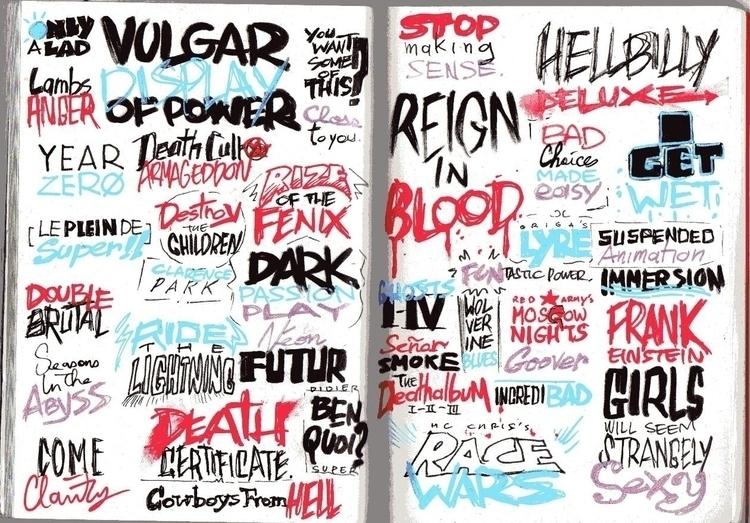 Typography experiments, 2014 - kapalsky | ello