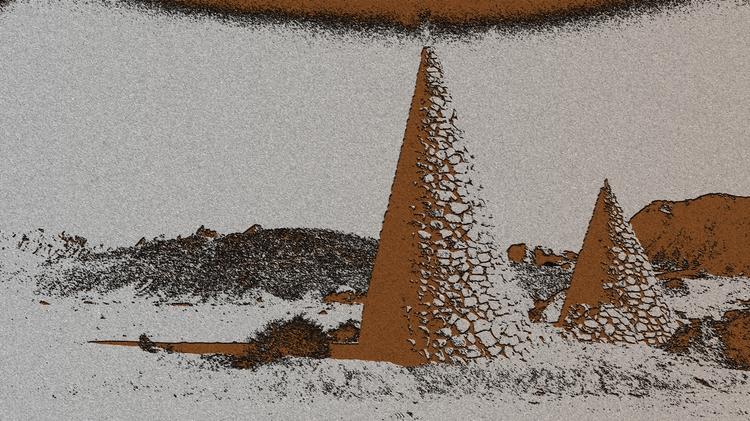 desert, cones. left ancient rac - allantron | ello