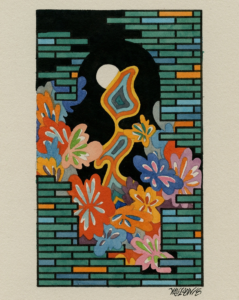 Night Gardener Watercolor gouac - jacobvanloon | ello