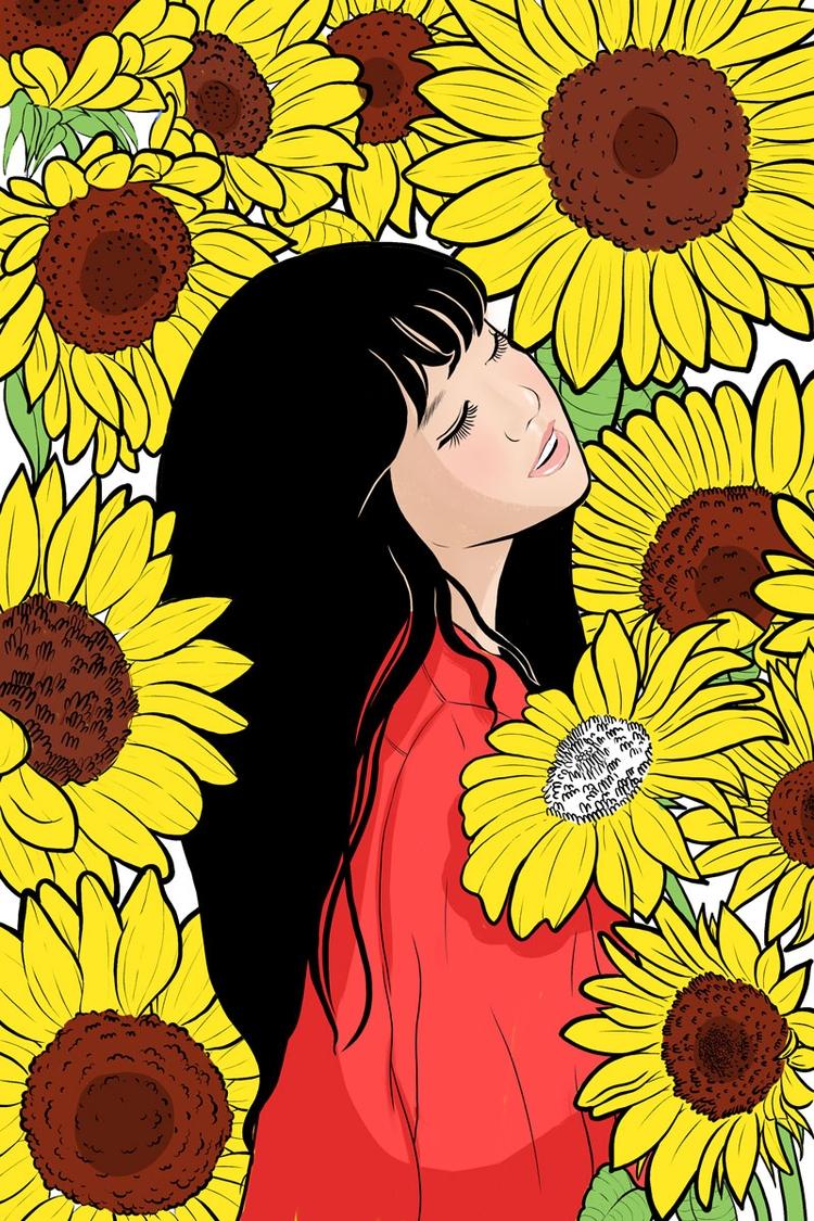 Sunflower Girl, 2018. Instagram - kawaii_sutra | ello
