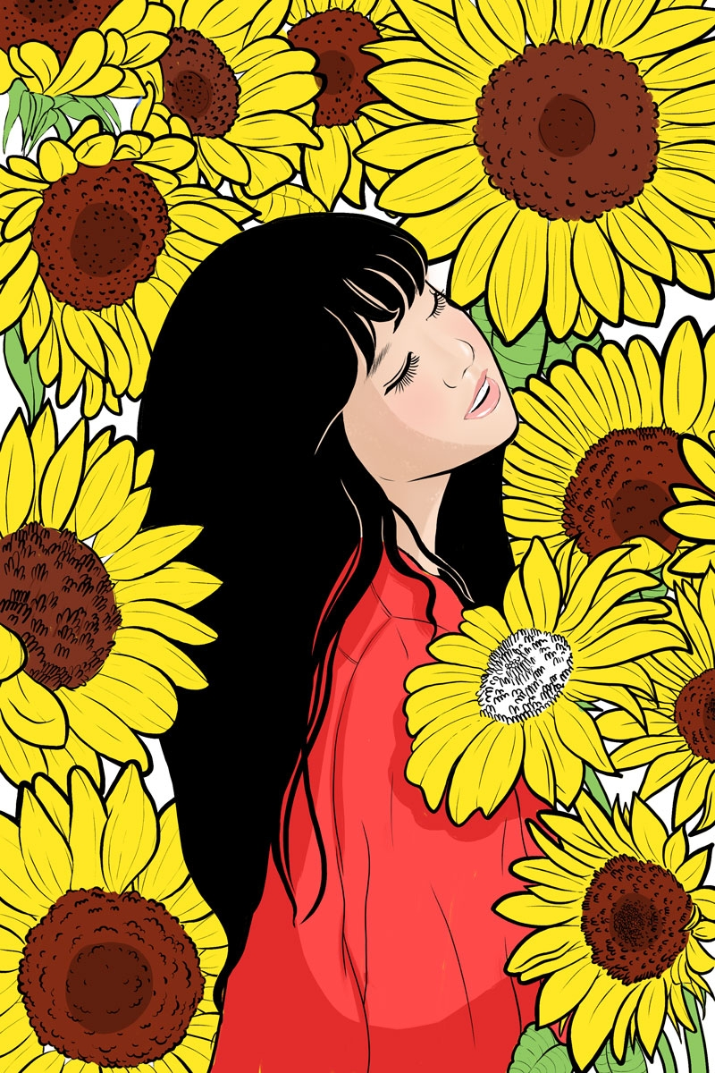 Sunflower Girl, 2018. Instagram - kawaii_sutra | ello
