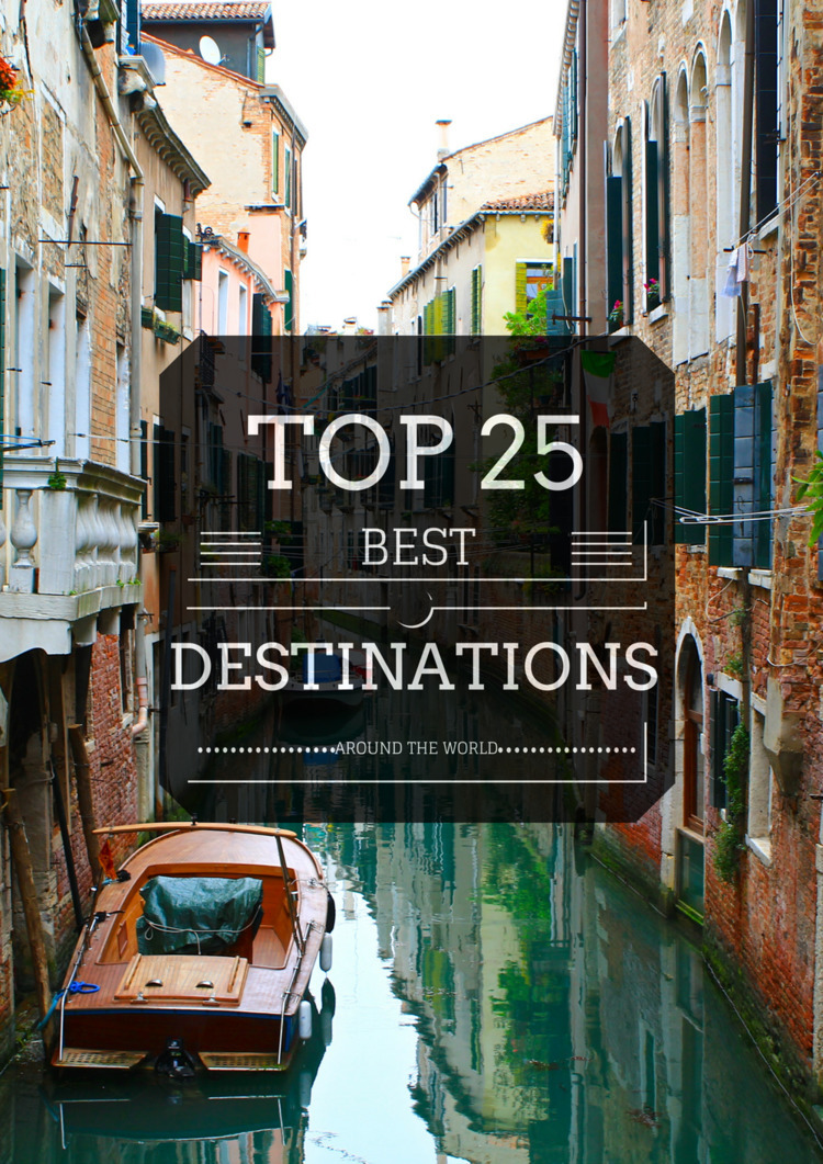 """Top 25"" Destinations World - world - amountainmomma 