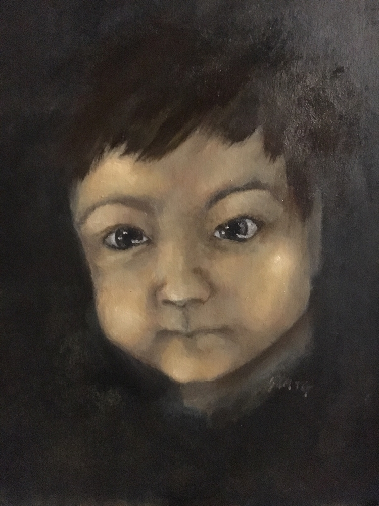 10 8 oil panel portrait son. fu - samtgadventureartist | ello