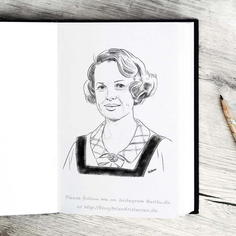 Pen Ink drawing Art2u.dk - Ingeborg - art2u | ello