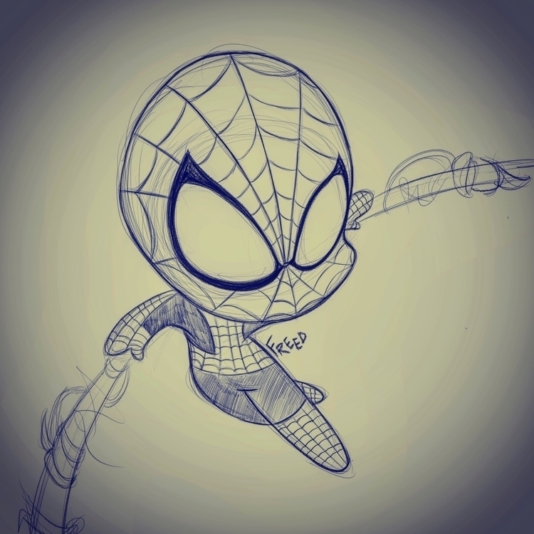 Doodles night. drawn Spider-Man - theartofbeingfreed | ello