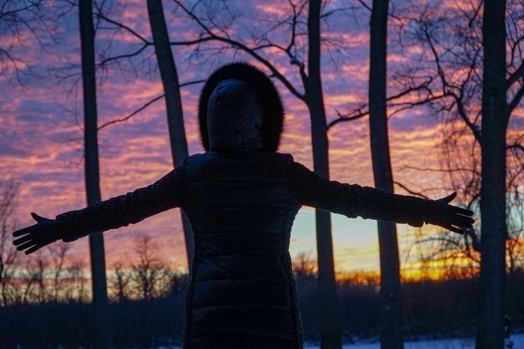 Hell sunset today - walkervandixhorn | ello