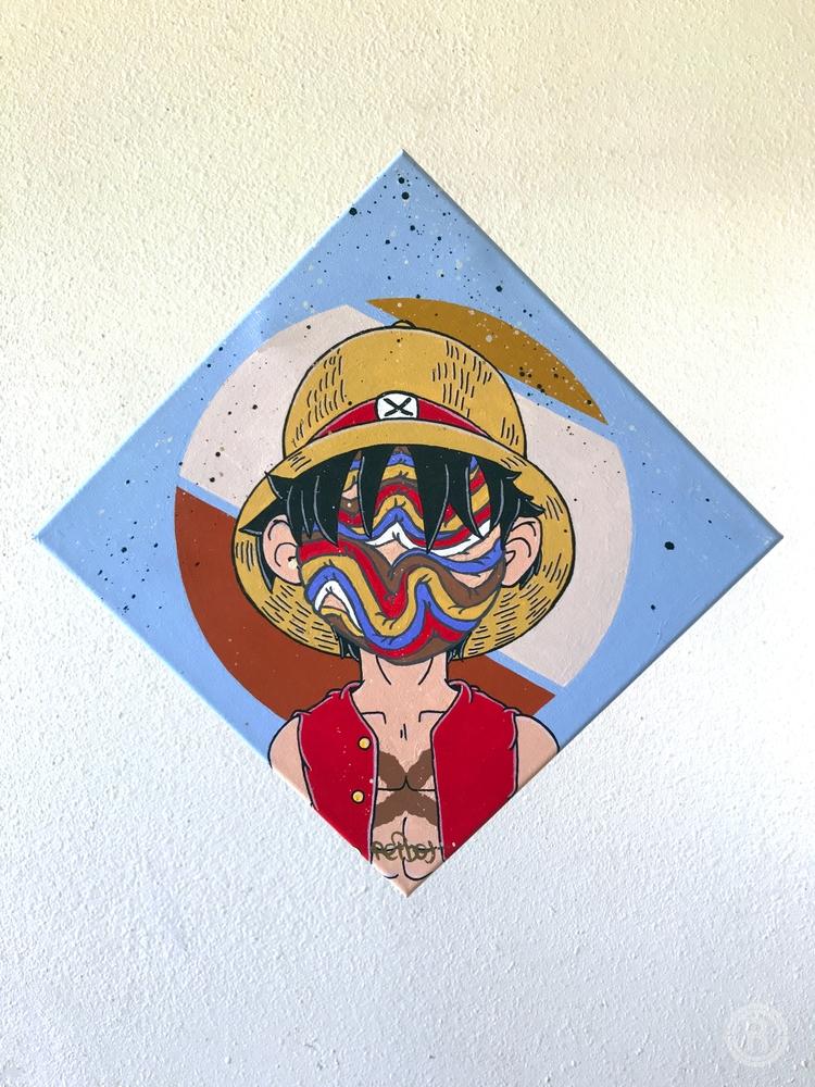 Monkey Dee 12 Acrylic paint Aer - reibot | ello