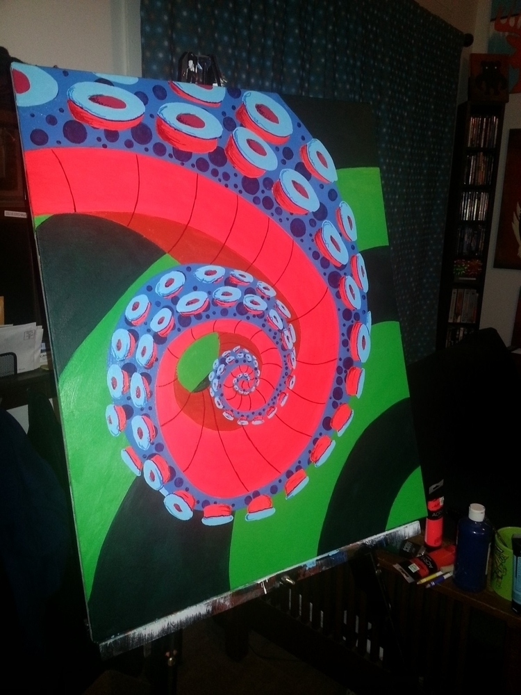 painted octopus - zigglesbarlow | ello