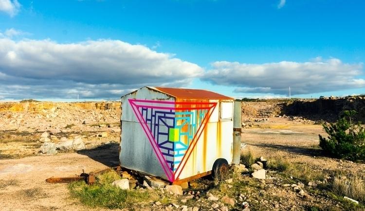 Temporary street art tape Drawn - shaneomalleyart | ello