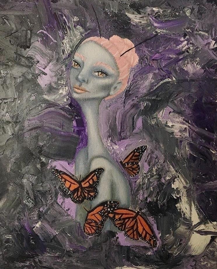 Monarch Princess - oilpainting, art - annaisabellaart | ello
