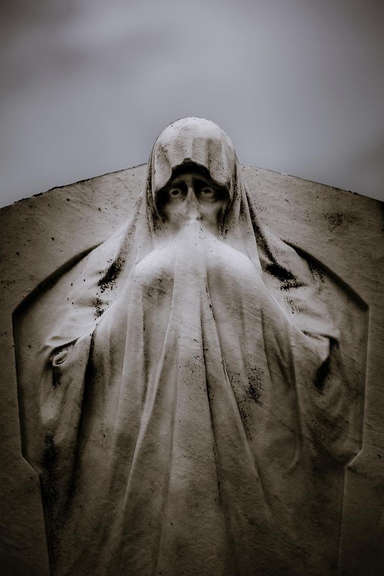 death - statue, cemetery, graveyard - ericvandael   ello