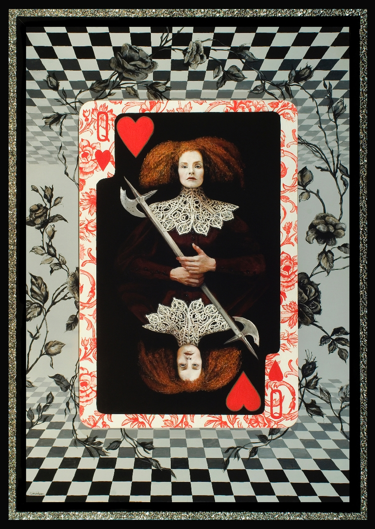 McQueen Hearts. diptych, painti - reginajacobson | ello