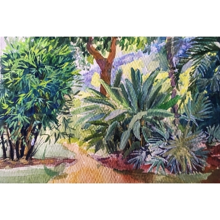 garden restaurant Goa - watercolor - yuliavirko | ello