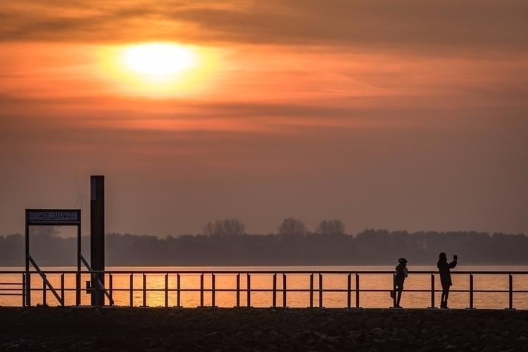 River Elbe Kollmar - sunset, elbe - gkowallek | ello