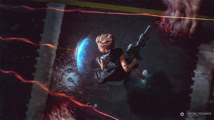 Teen cyborg (thug) - fight acti - antoinecollignon | ello