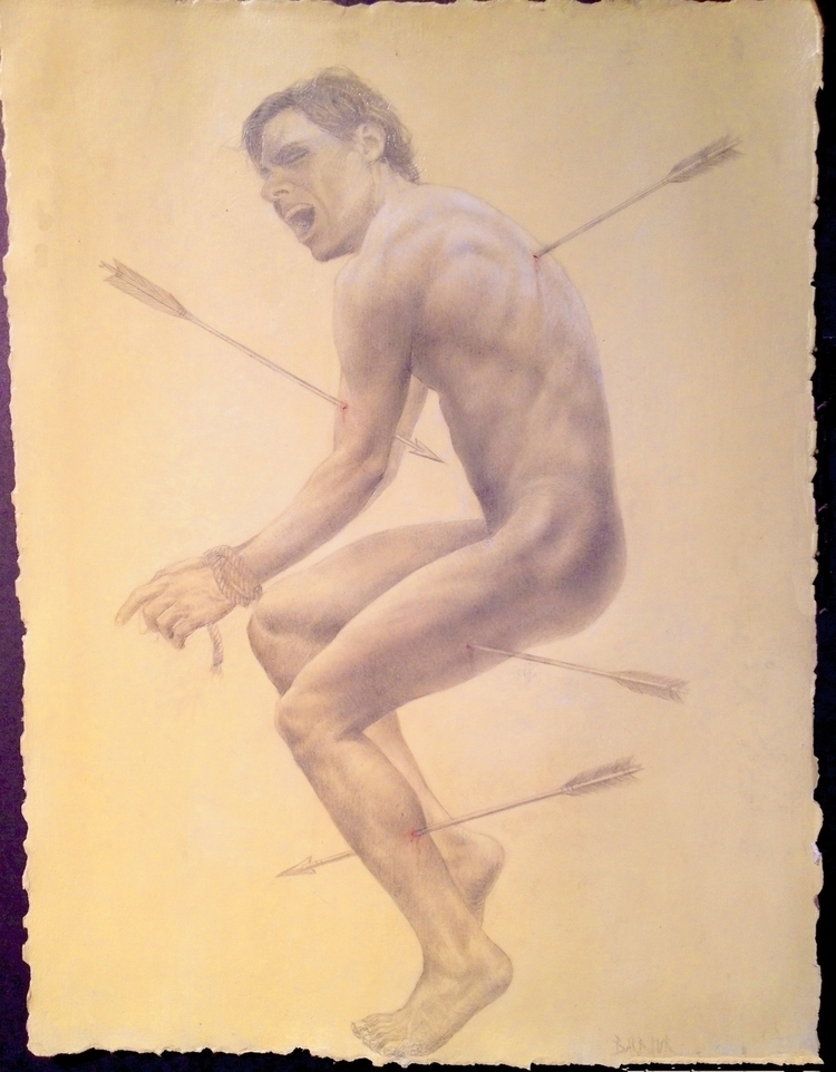 Persecution silverpoint drawing - jamesxavierbarbour | ello