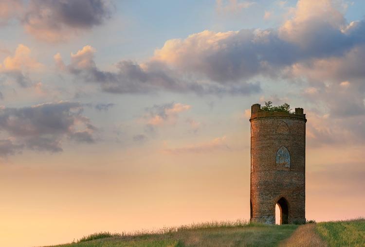 small lonely tower Nunhide Hill - forgottenheritage | ello