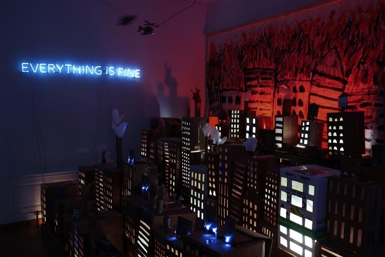 fine - neonart, installation, interactiveart - mollyallis | ello