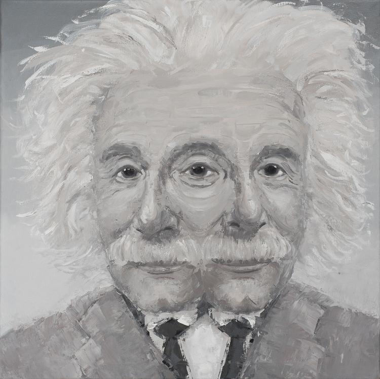 Einstein. 36 36. Oil Canvas. 20 - jackrosenberg | ello