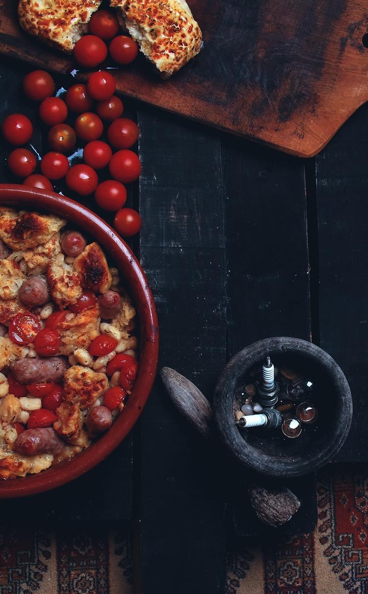 Baked casserole fresh sausages  - mphotography | ello