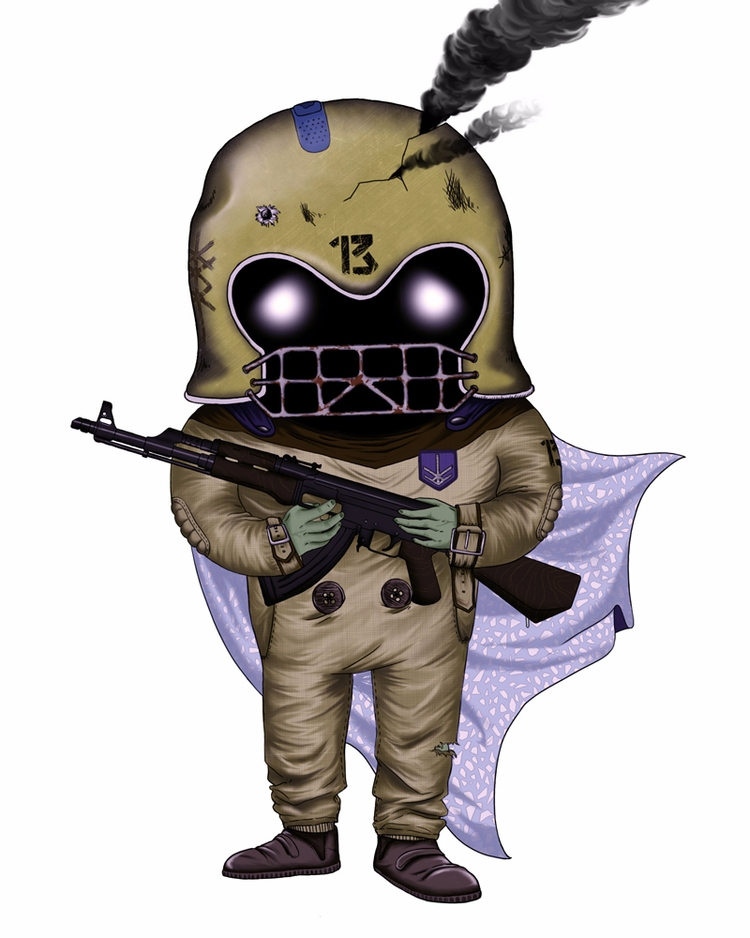 TEDDY SOLDIER face coin: Child  - iamstml | ello