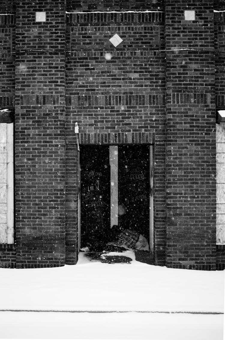 doorway abandoned building pile - justinhoodphotography | ello