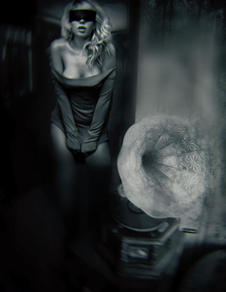 crazy man dream - portrait, monochrome - cornelgin | ello