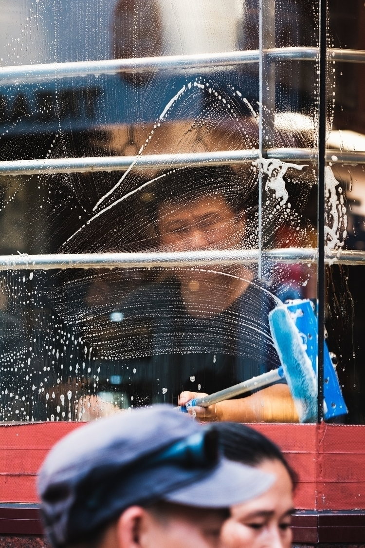 China Town window wash. David C - thethinblackframe | ello