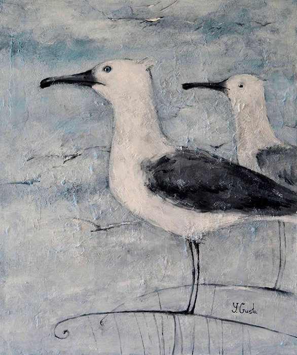 Gulls Oil canvas. 38 46 cm - yanagusto | ello
