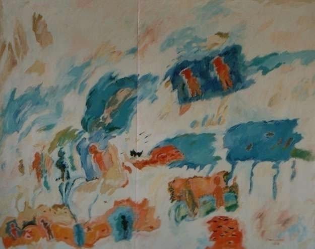 Les Blancs II - 1988 Peinture a - mcbourguignon | ello