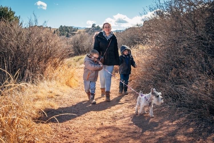 wife, sons, dog mild winter hik - amseaman | ello