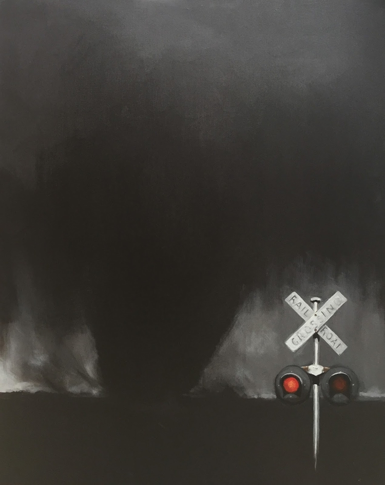 Freight Train 30x24 acrylic/can - jeffbessart | ello
