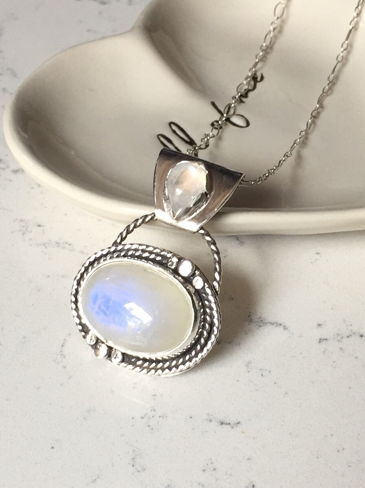 Double Moonstone Necklace - bellabychrista | ello