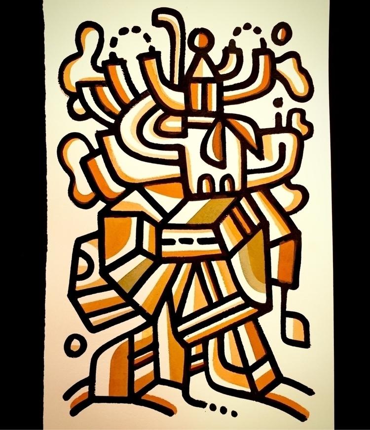 Game, watercolor India Ink, 12  - mikebiskup   ello