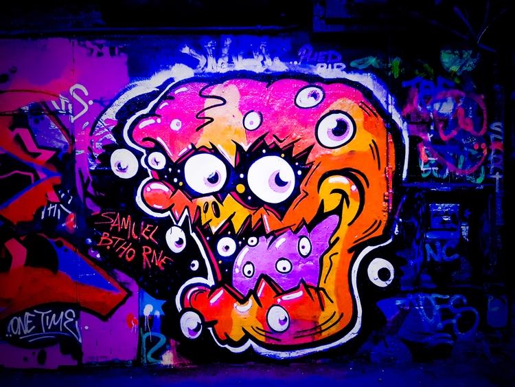 painting weekend. Leake Street  - samuelbthorne | ello