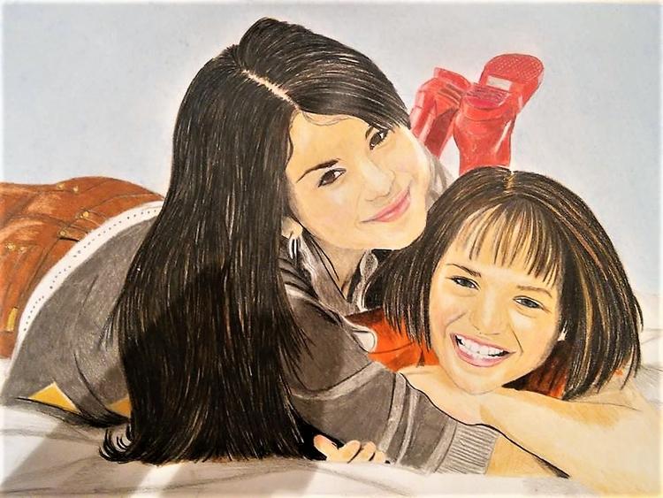 drawing Selena Gomez. drwaings  - jakribeata | ello