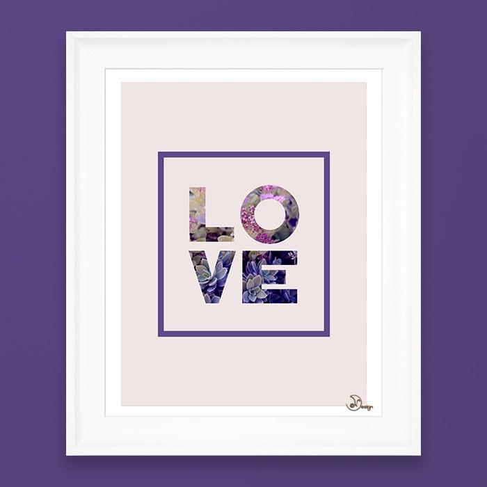 Succulent Uv LOVE Minimal quote - designdn | ello
