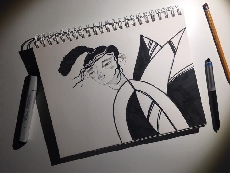 illustration, art, vsco - vishnevskaya | ello