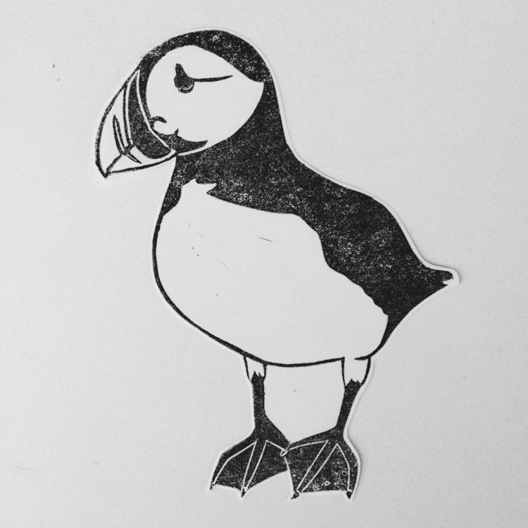 puffin, illustration, illustrator - studiomalu | ello