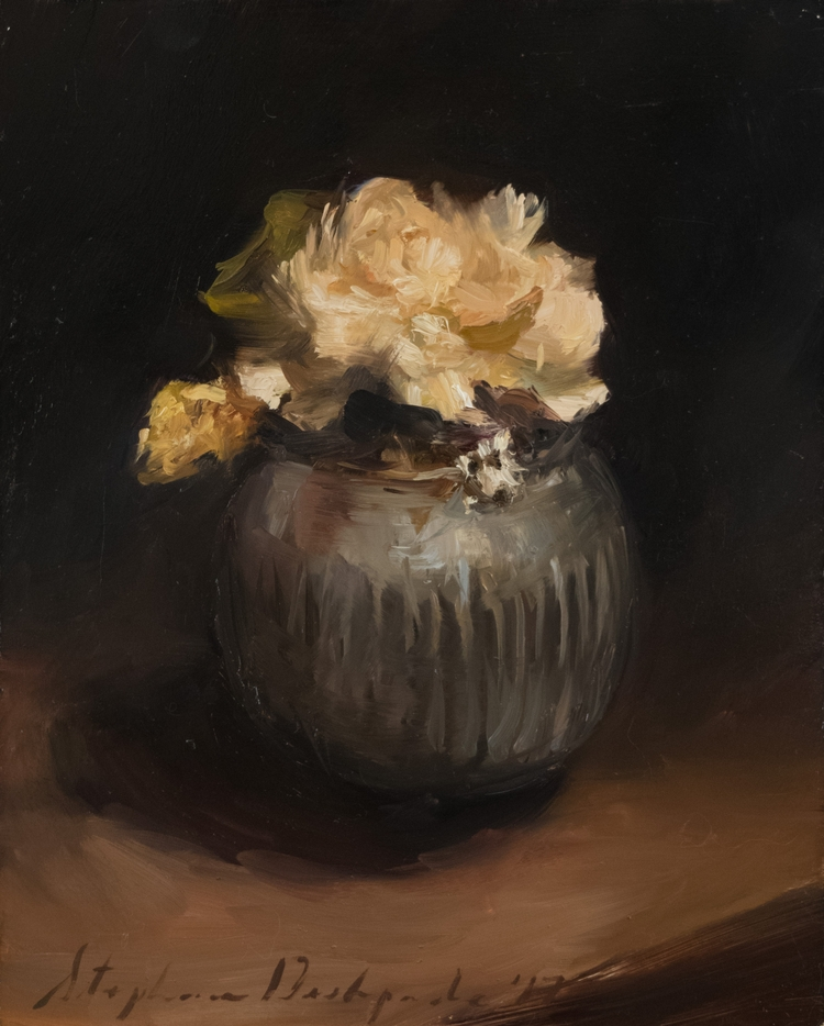 Dried Flowers, Oil Panel, 10 8 - stephaniedesh | ello