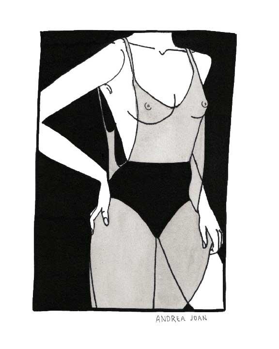blackandwhite, woman, body, watercolor - andreajoanart   ello