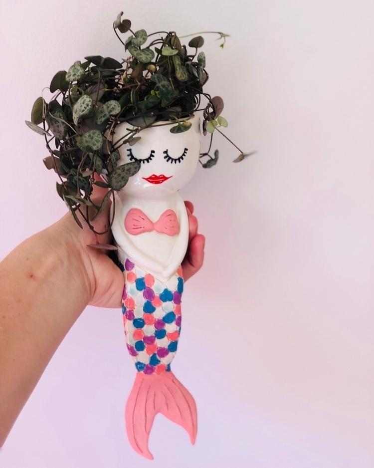 added Mermaid planter Etsy shop - livingdecortwins | ello