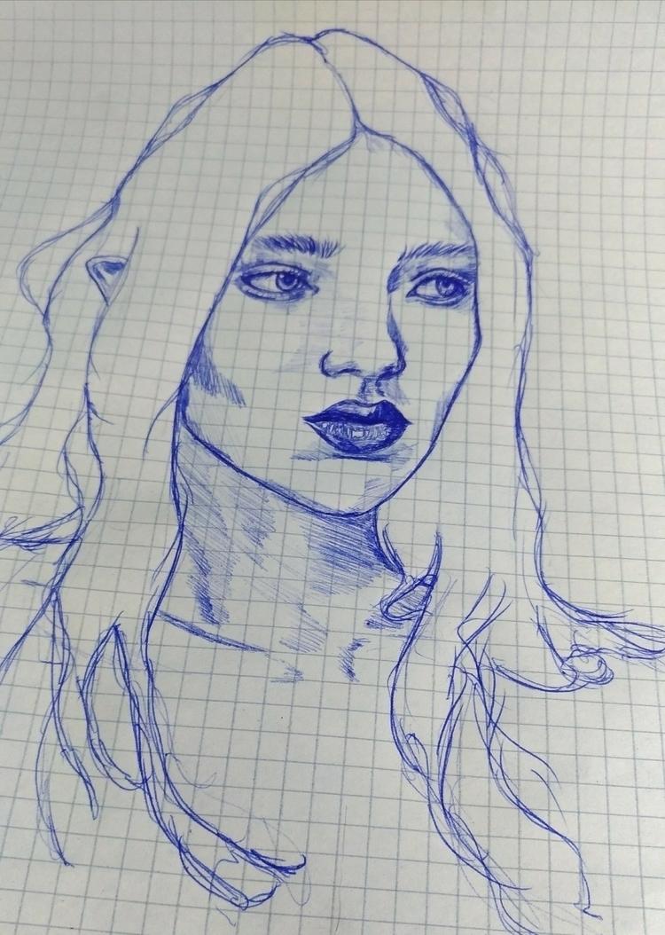 Doodle 'til drop - girl, drawing - echoofrain | ello