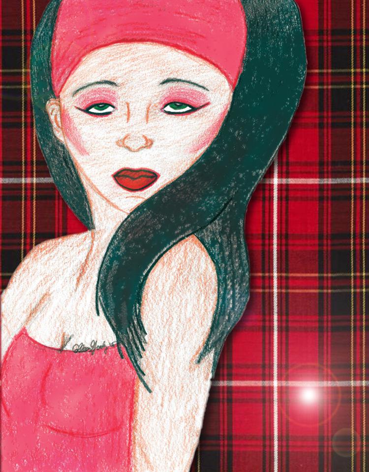 Lady Red Plaid purchase creativ - creativecolz   ello