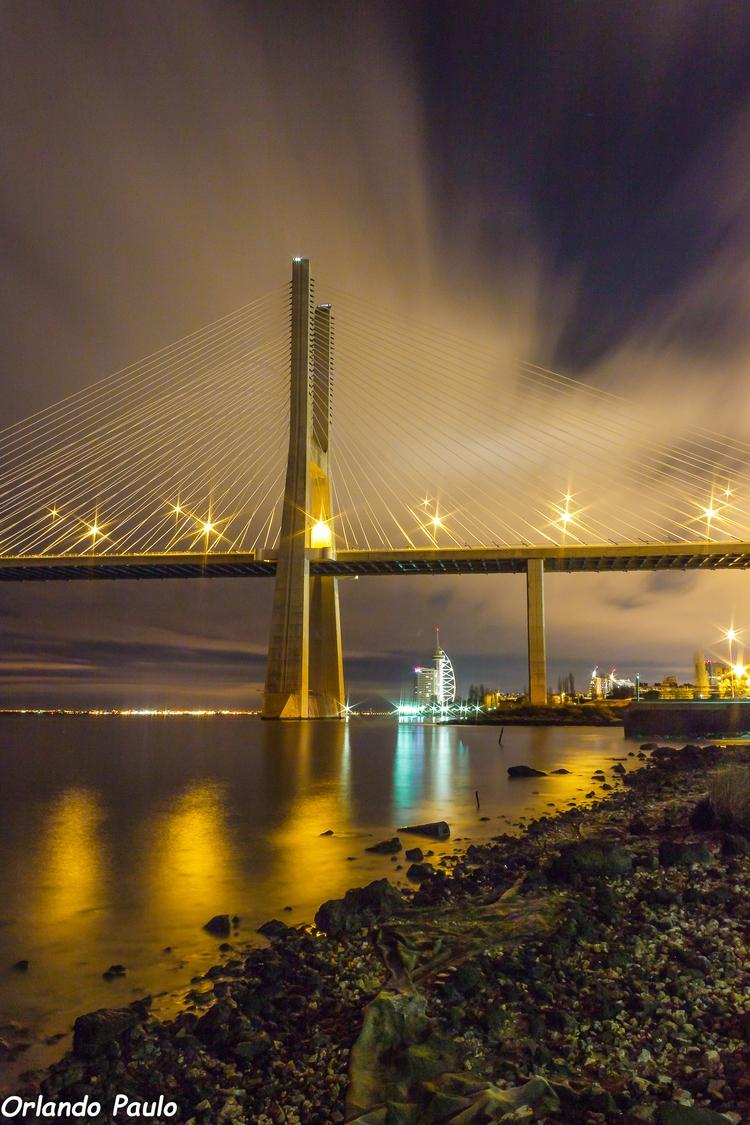 Vasco da Gama bridge. Lisbon, P - orlandopaulo | ello