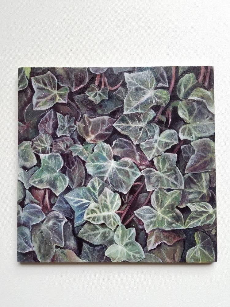 Ivy, ivyart, foliage, acrylicart - ashlyn_metcalf | ello